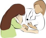 Arts en schreeuwende patiënt vector illustratie