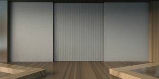 Arts and Gallery Exhibition Minimal style and Chair Royalty Free Stock Photo