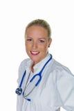 Arts in haar praktijk Stock Foto