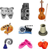 Arts icon collection Stock Image