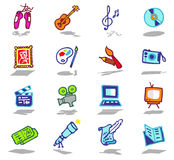 Arts icons set Stock Images