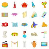 Arts icons set, cartoon style. Arts icons set. Cartoon set of 25 arts icons for web isolated on white background Stock Image