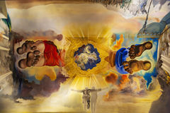 Arts of Jesus in Dali Theatre and Museum in Barcelona, Spain Royalty Free Stock Photo