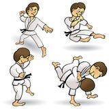 Arts martiaux - dessin animé illustration stock