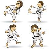 Arts martiaux - dessin animé illustration de vecteur