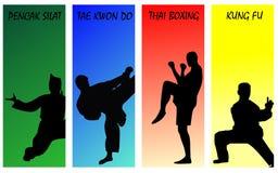 Arts martiaux du monde Images libres de droits