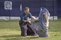 Arts martiaux jouants japonais en parc à Tokyo Images libres de droits