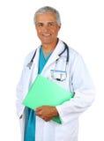 Arts met de Grafiek van Patiënten Stock Afbeelding