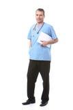 Arts met een blocnote Stock Afbeelding