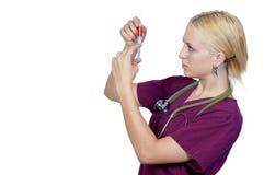 Arts met een Spuit Stock Afbeeldingen