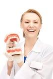 Arts met kaken stock foto