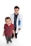 Arts met kindpatiënt Stock Fotografie