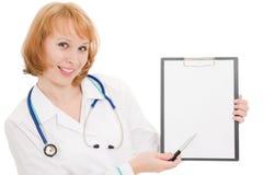 Arts met klembord Stock Afbeeldingen
