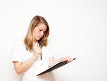 Arts met klembord stock foto