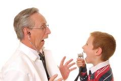 Arts met Patiënt 6 stock afbeelding