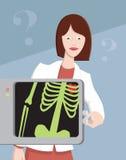 Arts met Röntgenstraal Stock Afbeelding