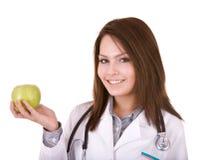 Arts met stethoscoop en appel. Royalty-vrije Stock Foto