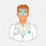 Arts met stethoscooppictogram, beeldverhaalstijl stock illustratie