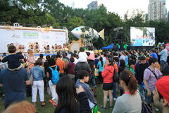 Arts in the Park Mardi Gras event in Hong Kong Stock Image