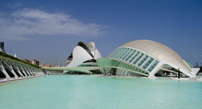 Arts and Science Center in Valencia. Daytime shot of City of Arts and Science in Valencia, Spain Stock Photo