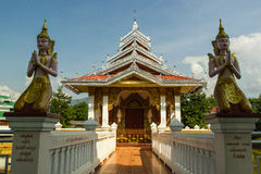 The Arts  of Shan Temple. At Northern of Thailand Stock Photos