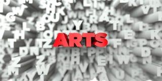 ARTS - Texte rouge sur le fond de typographie - 3D a rendu l'image courante gratuite de redevance illustration de vecteur
