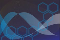 Arts. van de achtergrond de zwarte blauwe ontwerp abstrack kunst vector illustratie