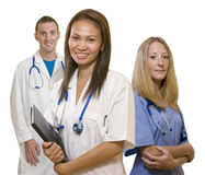 Arts, Verpleegster en Intern Stock Foto's