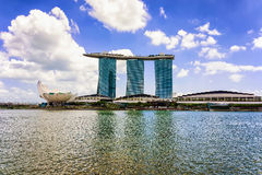 Artscience museum and Marina Bay Sands Hotel of Singapore Stock Photo