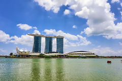 Artscience museum and Marina Bay Sands Hotel in Singapore Royalty Free Stock Photo
