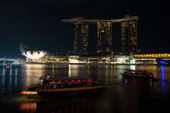 ArtScience Museum and Marina Bay Sands in Singapore Royalty Free Stock Image
