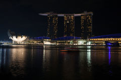 ArtScience Museum and Marina Bay Sands in Singapore Royalty Free Stock Photography
