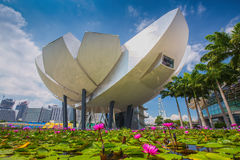 ArtScience Museum at Marina Bay Sands Royalty Free Stock Photo