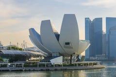 ArtScience Museum in Singapur Stockbild