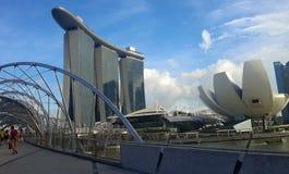 Artsciencemuseum en Marina Bay Sands Hotel Royalty-vrije Stock Foto's
