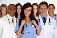 Artsen en Verpleegster stock afbeeldingen