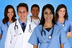 Artsen en Verpleegster stock afbeelding