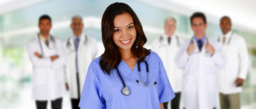 Artsen en Verpleegster stock foto