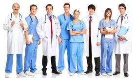 Artsen en verpleegsters Stock Foto