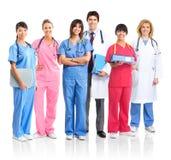 Artsen en verpleegsters Stock Afbeeldingen