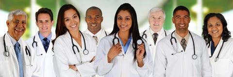 Artsen in het ziekenhuis Stock Foto's