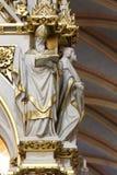 Artsen van de Kerk, standbeelden op het belangrijkste altaar in de kathedraal van Zagreb stock afbeelding