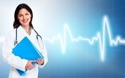 Artsenvrouw. Gezondheidszorg. Stock Foto's