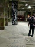artsiest 人们 AkT美术画廊  直到陈列的午夜的最后的陈列艺术 库存照片