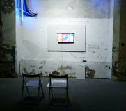 artsiest 人AkT美术画廊  直到陈列的午夜的最后的陈列艺术 免版税库存图片
