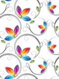 Artstic kwiaty bezszwowa tapeta Obrazy Royalty Free