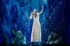 Artsvik de Armenia en la competencia de canción de la Eurovisión Imagen de archivo