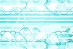 Artsy蓝色和白色设计纸 免版税库存图片