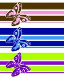 Artsy Butterfly lines Stock Image