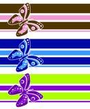 artsy fjärilslinjer stock illustrationer